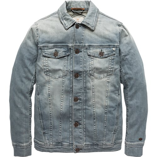 Ice bleach denim jacket
