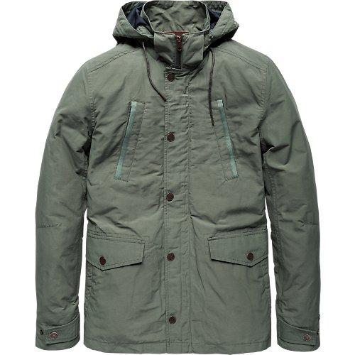 Semi long hooded jacket