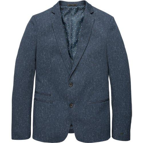 Texture printed jersey blazer