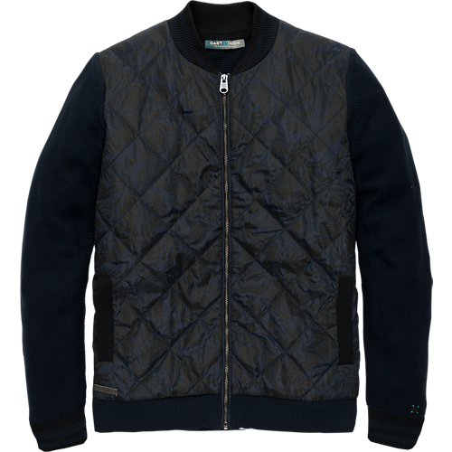 Structure knit bomber zip jacket.