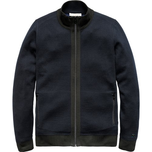 Dense double knit zip jacket