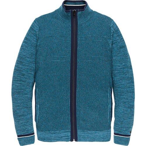 Cotton melange zip jacket