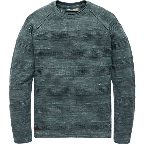 SPACE DYED COTTON CREWNECK
