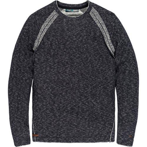 Cotton slub Plated crew neck knit.