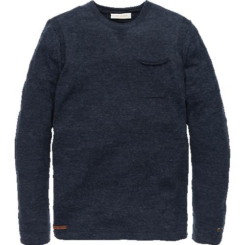 Linen Look crewneck pullover