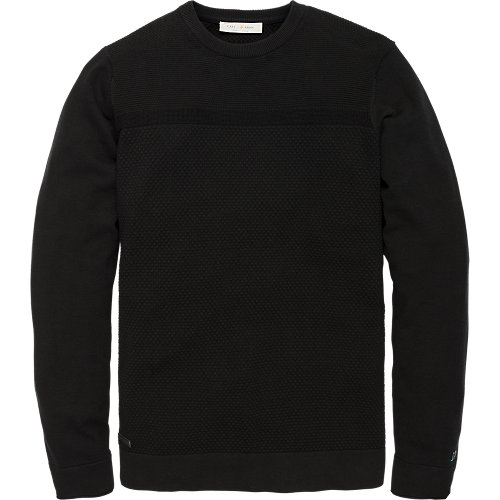 Cotton structure knit pullover