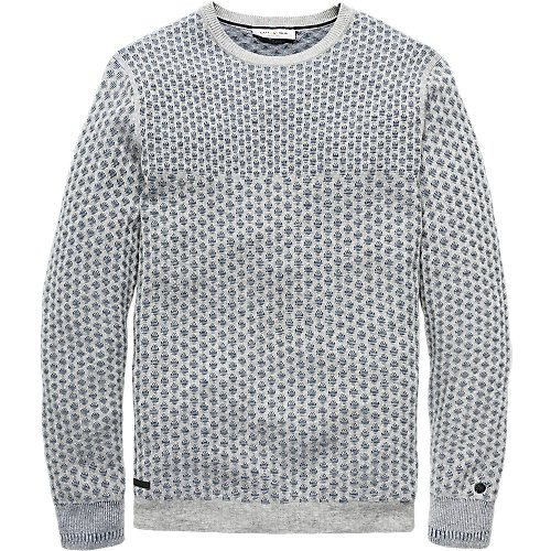 Cotton jacquard structure pullover