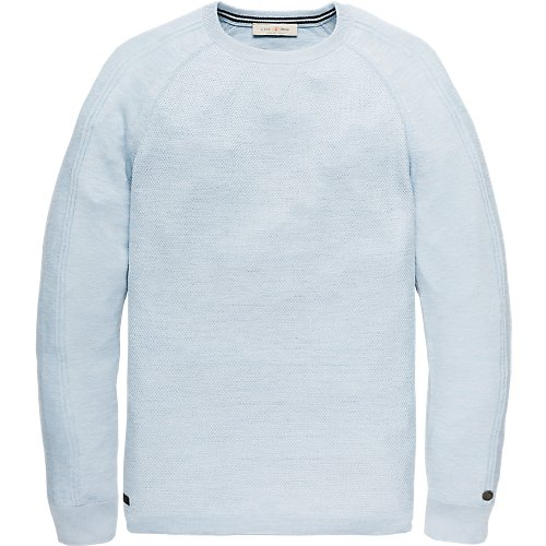Sophisticated cotton viscose crewneck pullover
