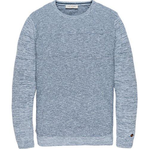 Cotton melange knit pullover