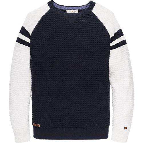 Cotton colorblock pullover