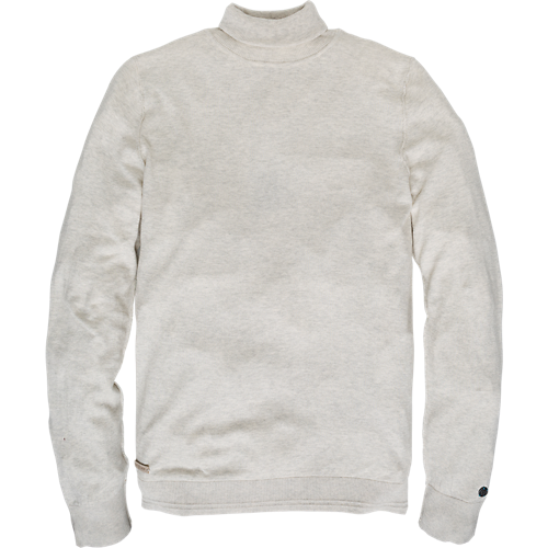 COTTON MELANGE ROLL NECK