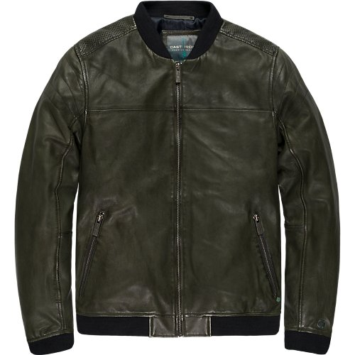 Leather bomber jacket - Sheep Dyed Oily