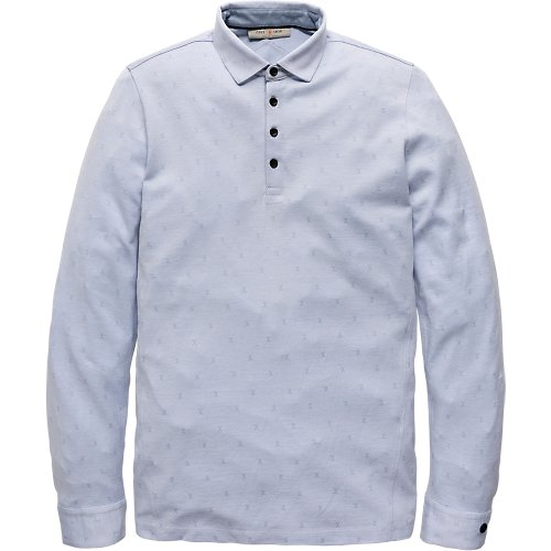Jacquard Pique Long Sleeve Polo