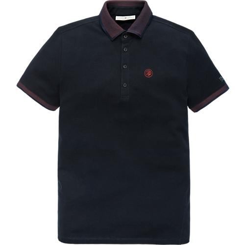 Contrast rib structure polo