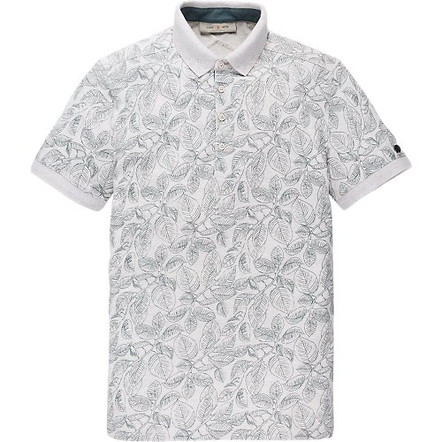 Rubberplant Print Stretch Polo