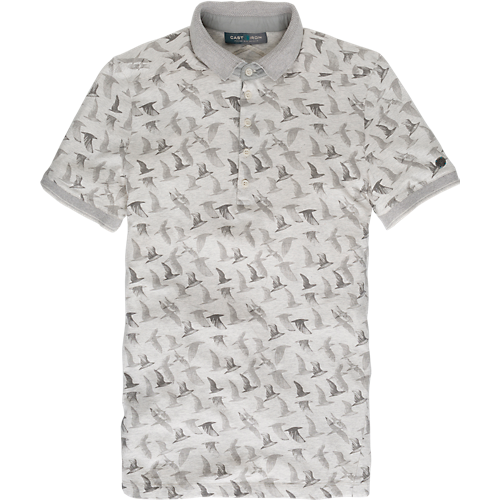 BIRD PRINTED COTTON POLO