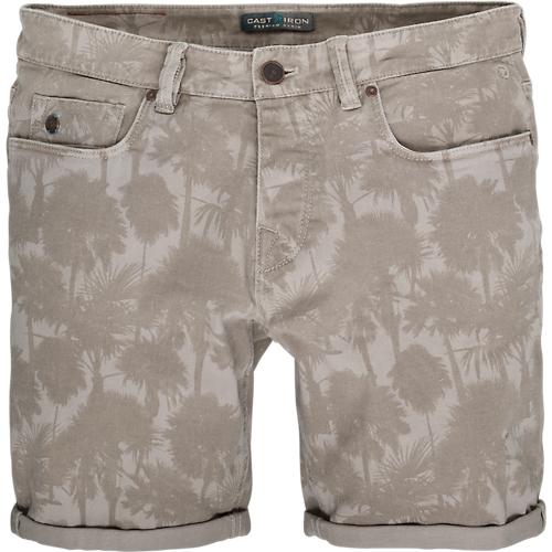PALM PRINTED COPE SHORTS