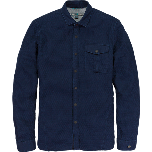 QUILTED DENIM SHIRT