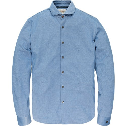 Long sleeve cotton jersey oxford shirt