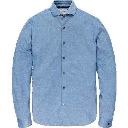 Long sleeve cotton jersey oxford shirt