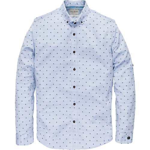 Long Sleeve cut away dot shirt