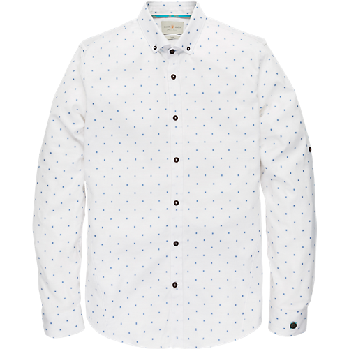 Long Sleeve cut away dot shirt