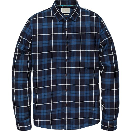 SOFT INDIGO CHECK SHIRT