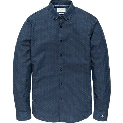 INDIGO DOBBY DOT SHIRT