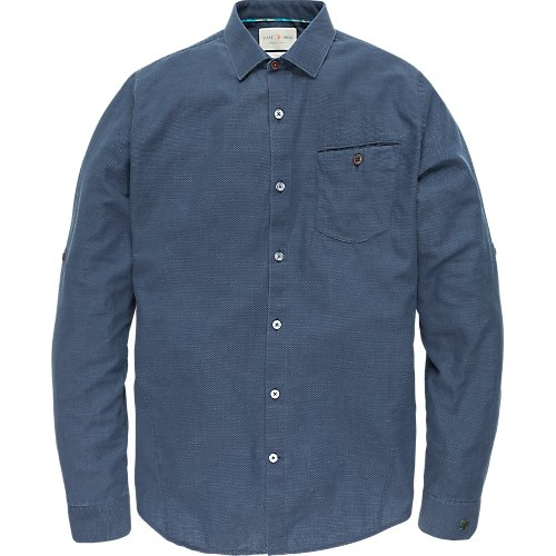 Long Sleeve Denim Dobby Shirt