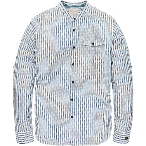 COTTON LINEN RACING STRIPE SHIRT