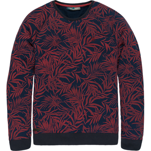 All-over printed crew neck sweat.