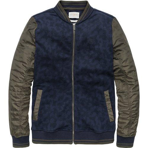 Camouflage sweat bomber jacket