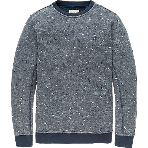 Allover embroidered crewneck sweat