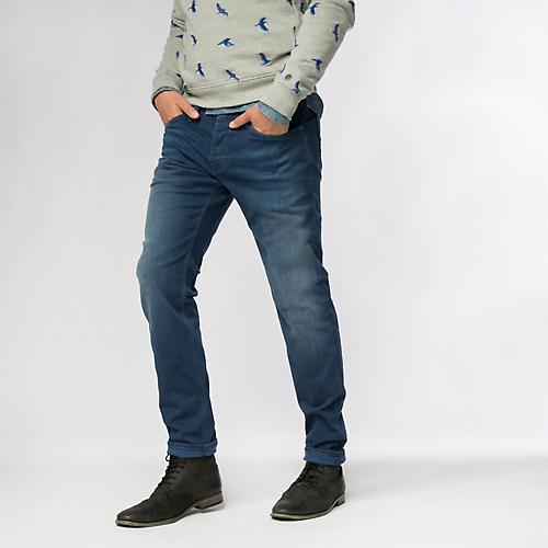 Soft Blue Riser Slim Jeans