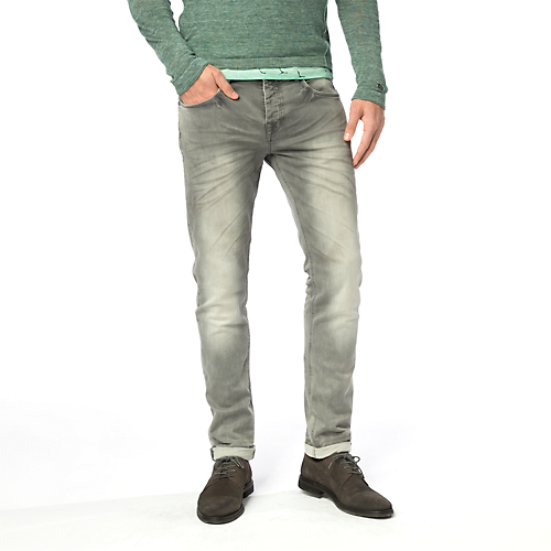 GREY SWEAT COPE JEANS
