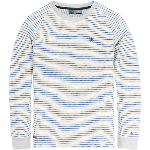 STRIPED COTTON CREWNECK