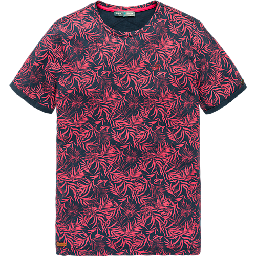 ALL OVER PALM LEAF PRINT T-SHIRT