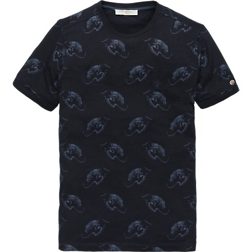 Indigo jersey short sleeve T-shirt
