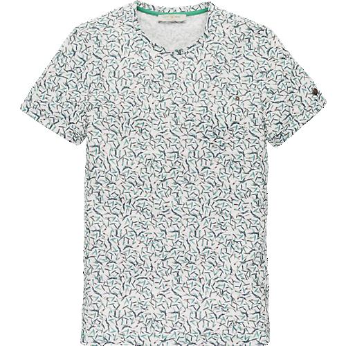 Melange Cotton short sleeve artwork T-shirt