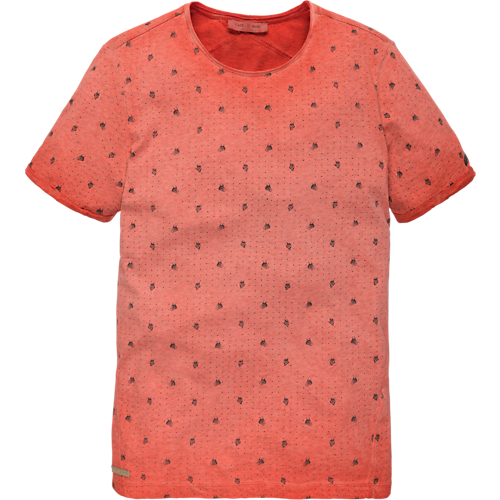 Melange Jersey short sleeve T-shirt mini print