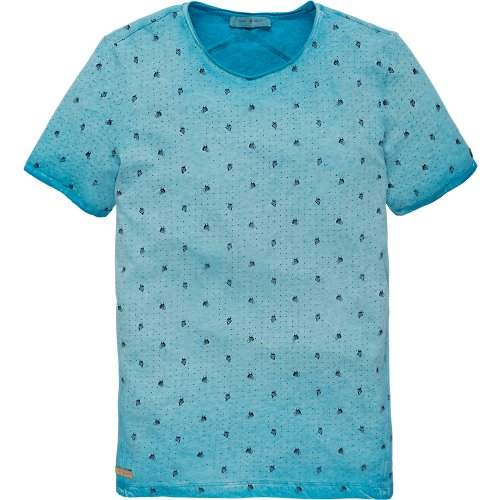 Melange Jersey short sleeve T-shirt mini print