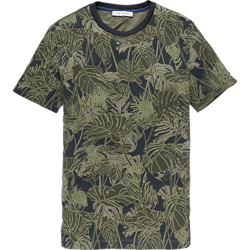 All Over Monstera Leaf Print T-shirt
