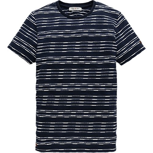 Striped Jersey crew neck T-shirt
