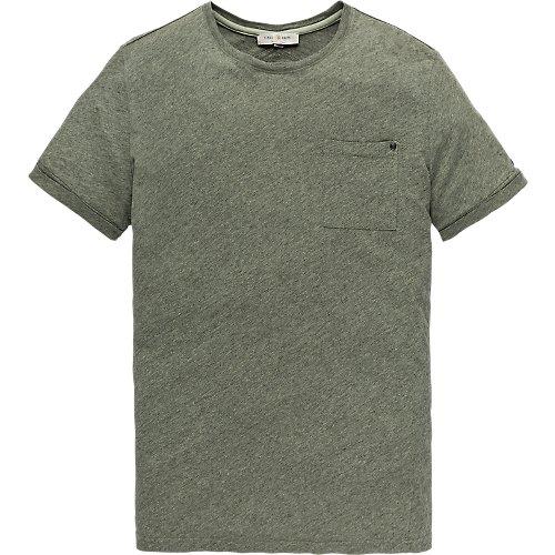 Garment dyed melange T-shirt