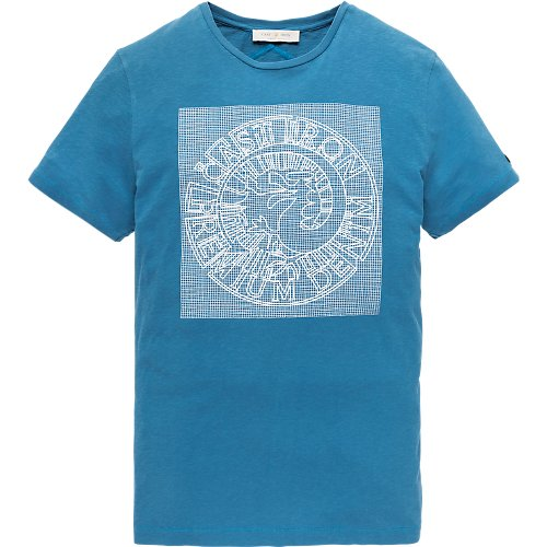 Fine jersey rubber print logo T-shirt