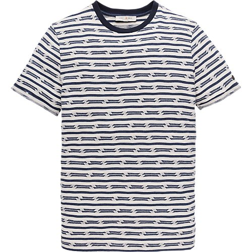Broken stripe T-shirt