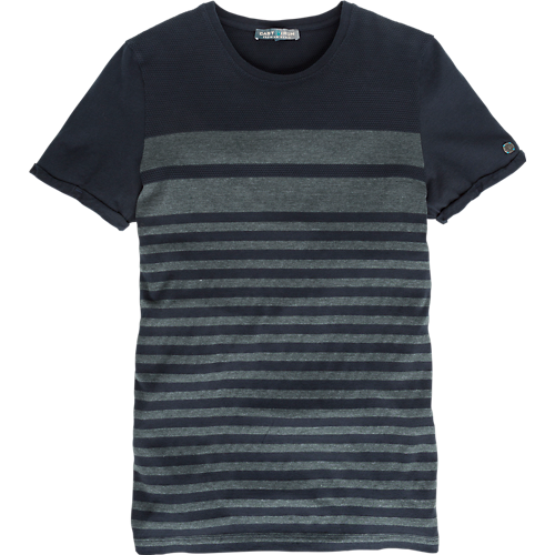 STRUCTURED STRIPE T-SHIRT