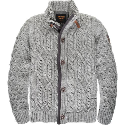 Button Zip Cardigan