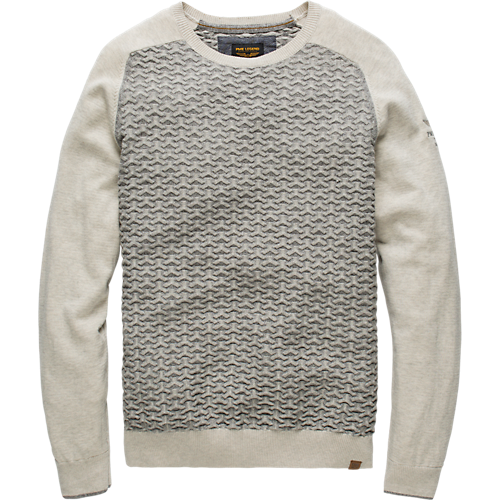 COTTON MELANGE CREW NECK