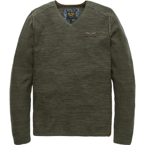 PULLOVER WITH V-NECK